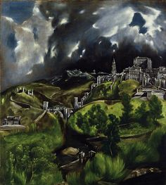 View of Toledo, El Greco.  Met public domain collection - high resolution images for personal use.