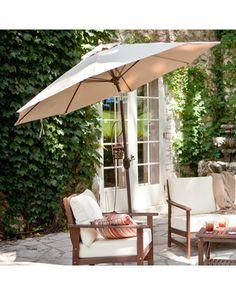 Sunbrella tilt aluminum umbrella on your deck or patio