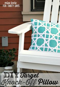 DIY Target Knock-Off Pillow. Get cute home decor for a fraction of the cost by using this easy sewing tutorial!