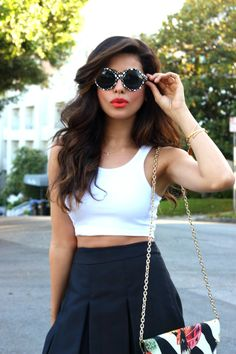 sazan, barzani, fashion, blogger, united states, los angeles, black and white style, cool prints, 2014, nila anthony, pretty clutch, bag, striped, patterns, peter pilotto, target, sunglasses, summer, trends, accessories, pattern, bold outfit ideas, daring style, what is fashion, 2014 fashion, topshop, crop top, affordable finds, outfit ideas, hair ideas, makeup ideas, big hair, tips, bold lips, fancy, kurdish, middle eastern, barzani, shoedazzle, street style, inspiration