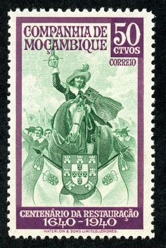 """1892 Scott 3 rose """"King Luiz"""" Overprinted in Carmine or Black Quick History The Mozambique Company had the concession from Portug. Old Stamps, Postage Stamp Art, Colonial, My Stamp, Stamp Collecting, History, World, Cards, King John"""