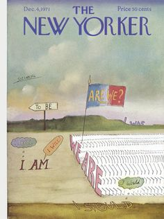 The New Yorker - Saturday, December 4, 1971 - Issue # 2442 - Vol. 47 - N° 42 - Cover by : Saul Steinberg
