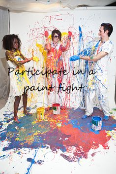 paint fight! What a fun photoshoot! I would love to do this for a family shoot once the boys are bigger.