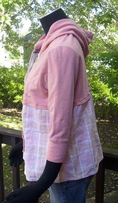 Upcycled Hoodie OOAK Aero hoodie Recycled Clothing by TeesDenim
