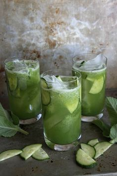 Cucumber Mint Gin Coolers: and please only with 'Hendricks' (gin actually made from cucumber).