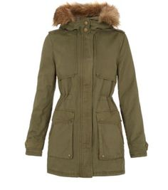 Free delivery available today - Shop the latest trends with New Look's range of women's, men's and teen fashion. Teen Guy Fashion, Cute Fashion, Womens Fashion, Hooded Parka, Fur Trim, Playing Dress Up, Canada Goose Jackets, New Look, Military Jacket