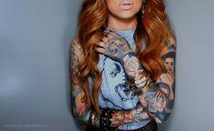 Tattooed Girl #sleeves #inked up