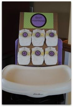 """This Game Is Actually Called """"Dirty Diapers""""...Click On Picture To See How To Play This And 20 Other Baby Shower Games..."""