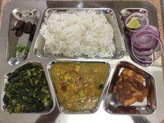 Nepali thali... Rice, vegetables, fish