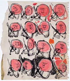 Andy Warhol, Sprite Heads Playing Violins1948
