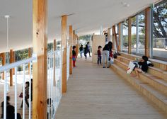 Yamazaki Kentaro Design Workshop's kindergarten is designed as a large set of steps