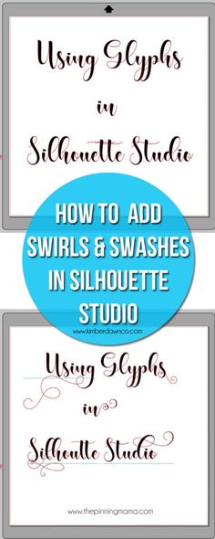How to use glyphs in Silhouette Studio - Step by Step Instructions - Drawing Designs Silhouette Cameo Tutorials, Plotter Silhouette Cameo, Silhouette Fonts, Silhouette Cutter, Silhouette School, Silhouette Cameo Machine, Silhouette Projects, Silhouette America, Silouette Cameo Projects