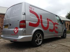 Dude Shoes vehicle graphics.