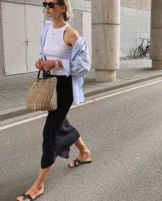 Stylish Summer Outfits, Spring Outfits, Casual Outfits, Late Summer Outfits, Mode Outfits, Fashion Outfits, Womens Fashion, Look Fashion, Daily Fashion