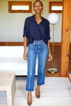 Jeans Outfit For Work, Summer Work Outfits, Office Outfits, Casual Outfits, Cute Outfits, Fashion Outfits, Classy Jeans Outfit, Casual Jeans Outfit Summer, Beautiful Outfits
