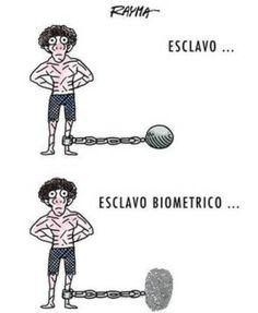 Imagen de rechazo al sistema biometrico en Venezuela. @ArgenisS_Vzla (agosto 2014).