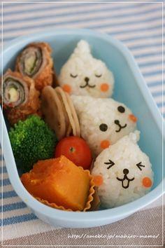 A super cute kawaii bento box! Japanese Food Art, Japanese Lunch, Japanese House, Cute Food, Good Food, Yummy Food, Bento Recipes, Bento Ideas, Kids Meals