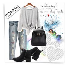 """ROMWE 8"" by woman-1979 ❤ liked on Polyvore featuring See by Chloé and WALL"