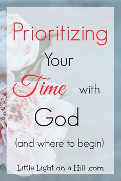 Making our quiet time a priority is how we get to know our Father. To do this, we must create routine and know where to start in reading our Word.