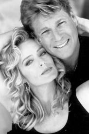 """Farrah Fawcett and Ryan O'Neal. """"God gave women intuition and femininity. Used properly, the combination easily jumbles the brain of any man I've ever met."""" (Fawcett) . . . """"Like a moth to a flame we become helpless to the beautiful ghosts that true love sheds"""" (O'neal)"""