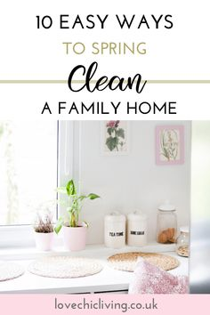 Hacks, tips and schedules for how to spring clean your family home. Use this checklist to get the kids involved. The best declutter and organization ideas for kitchens, bedrooms, bathrooms, and kids rooms. Quick ways to freshen your home. Cleaning Blinds, Cleaning Hacks, Cleaning Schedules, Cleaning Checklist, Kitchen Organization, Organization Ideas, Kitchens And Bedrooms, Chores For Kids, Household Chores
