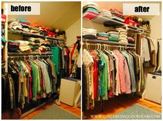 Easy tips for closet organization without spending any money!