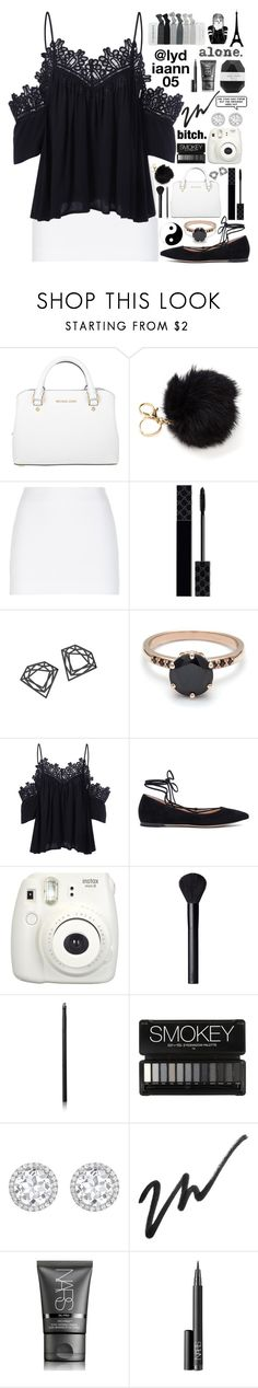 """""""I'm done with the s**t rtd"""" by lydiaann05 ❤ liked on Polyvore featuring Michael Kors, La Perla, Gucci, Myia Bonner, Gianvito Rossi, Fujifilm, NARS Cosmetics, Kiki mcdonough and Cassia"""