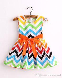 Buy cute cotton print baby girl dress kids dress girls princess ribbon dresses vestidos children clothes