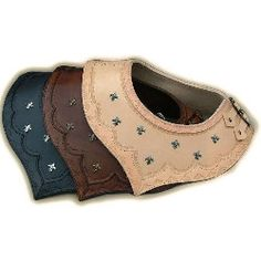 Our Leather Mantle neck armor is made from Quality Heavy Leather. Comes tooled, laced on one side, two straps and buckles on the other side, embellished with small fleur dis lis.  Sku:CD-706  Price: $130.00