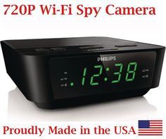 720p Alarm Clock Radio HD WiFi Spy Camera Covert Hidden Nanny Camera Spy Gadget  BVCAM  * To view further for this item, visit the image link.Note:It is affiliate link to Amazon. #GadgetsWorld