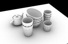 Stereopixol: How to create Ambient Occlusion in Autodesk Ma. 3ds Max Tutorials, Ambient Occlusion, Autodesk 3ds Max, 3d Modeling, Create, Tableware, Digital, Tips, Painting