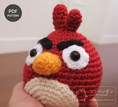 Angry Birds: the Red Bird. Learning to crochet is what I shall do after I master knitting :)
