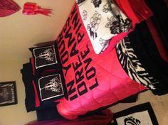 My new Victoria Secret bed spread!