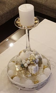 30 Cheap and Easy Homemade Wine Glasses Christmas Candle Holders Christmas wine glass candle holder ; DIY Home Decor Ideas; cheap and easy candle holders. Christmas Candle Decorations, Christmas Candle Holders, Christmas Candles, Thanksgiving Decorations, Table Decorations, Dollar Store Christmas, Christmas Wine, Xmas, Christmas Christmas