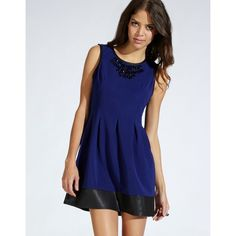 Lipsy Pleated Skater Dress