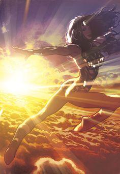 Sensation Comics Featuring Wonder Woman # 4 cover by Adam Hughes