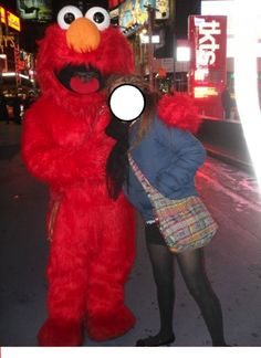 Look close. When you see it, you'll know. lol// to all my NYC trip peeps who heard my creepy Elmo story.. You'll enjoy this!