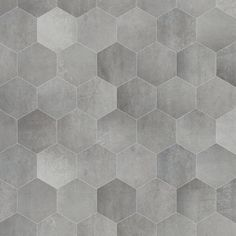 Sphinx concrete hexagone: Strak betondesign, keramiek in een retro jasje. 6 hoekige tegels 40x34,5 cm toepasbaar zowel als wand als vloerbekleding