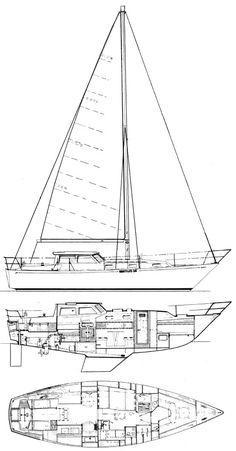Nautilus 36 drawing on sailboatdata.com