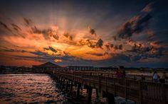 Tybee Island GA sunset on Tybee Pier | Photo: Scott Kublin