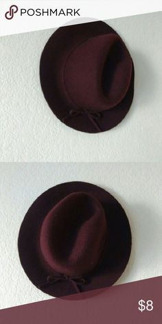 Burgundy Floppy Felt Hat Stylish- Like New. Cute bow detail! target Accessories Hats