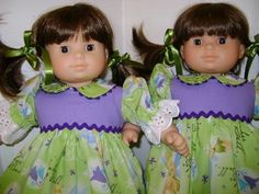 Bitty twin girls Alley and Trish both found at thrift store. We do not have those outfits.