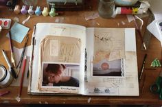 art journal inspiration collage