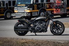 Indian Scout Bobber With Jack Daniels [With Fire Trucks]