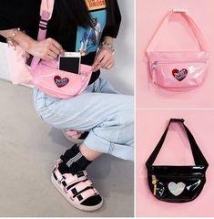 Kawaii Women's Laser Crossbody Waist Pack Bags sold by KoKo Fashion. Shop more products from KoKo Fashion on Storenvy, the home of independent small businesses all over the world. Daily Fashion, Teen Fashion, Fashion Trends, Fashion Inspiration, Style Fashion, Waist Pack, Just Girly Things, Pouch, Wallet