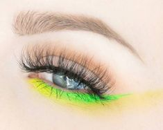 Bright Green & Yellow |#100daysofmakeup day 27  Having fun with bright colors. How was your weekend?  @nubounsom Bella lashes (use code rebeccashores for 20 percent off *affiliate)  @suvabeauty Fanny Pack & Dance Party  @meltcosmetics Blurr, Unseen,...