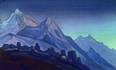 Tibet, 1937 by Nicholas Roerich. Symbolism. landscape