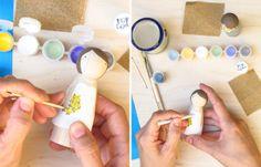 DIY : Réalisez vos propres figurines de gâteau de mariage (wedding cake topper) | www.decocrush.fr