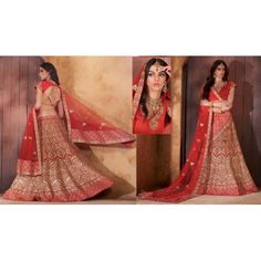 Pinalika designer heavy red bridal lehenga