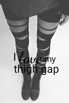 I'm thank God and the universe for amazing figure I have. I'm so dainty and small.  I just love my huge thigh gap ♠